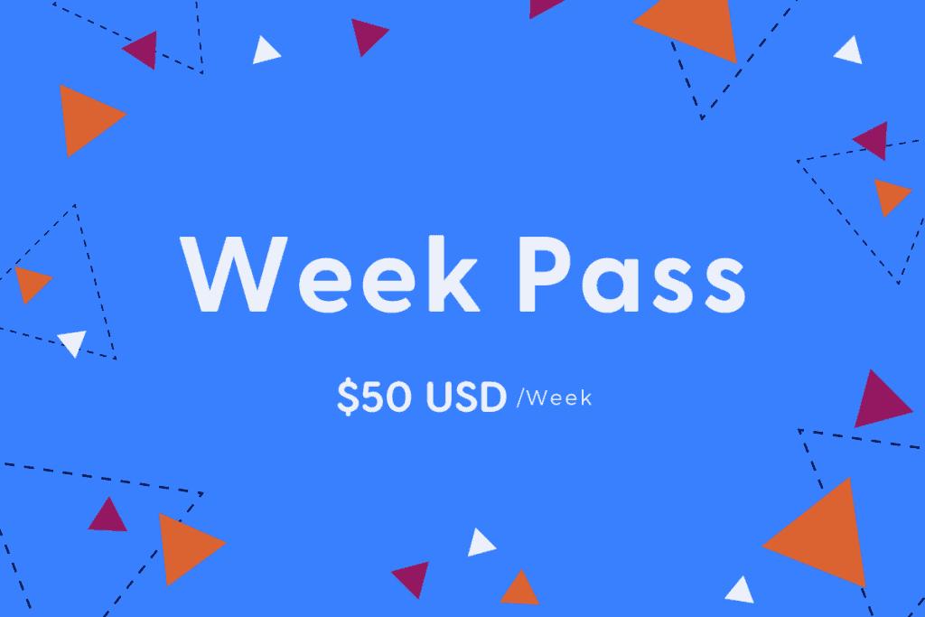 Week Pass $50 per week